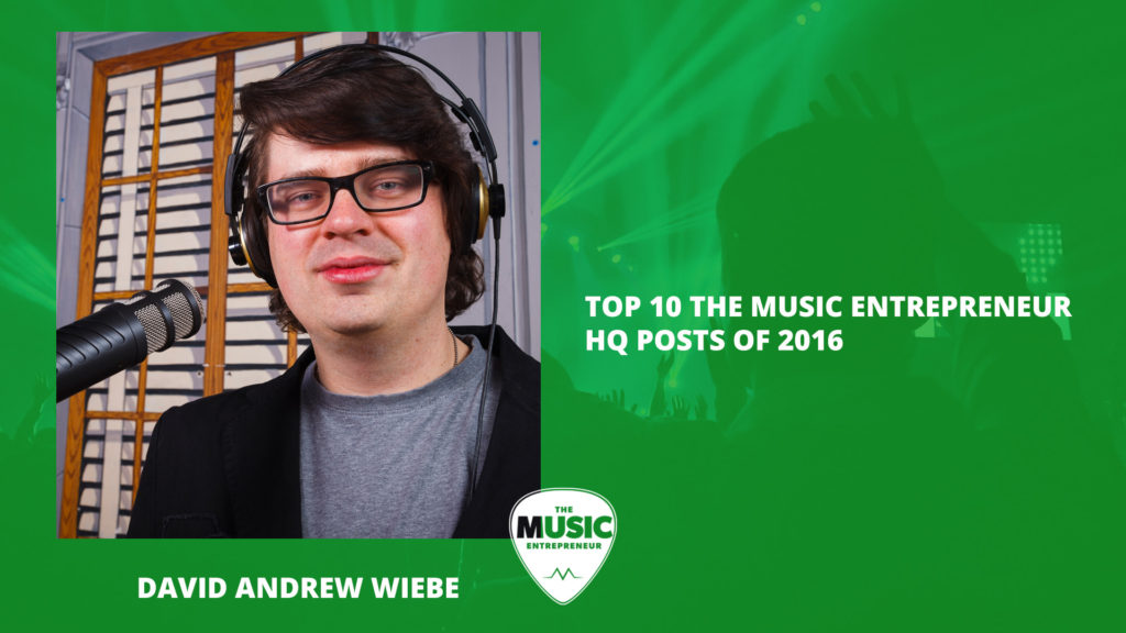 The most viewed content on The Music Entrepreneur HQ