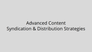 Content syndication and distribution slides