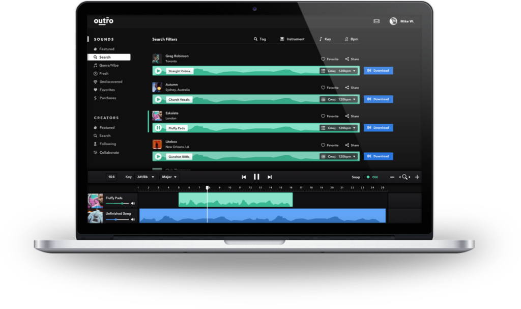 Music production marketplace paltform