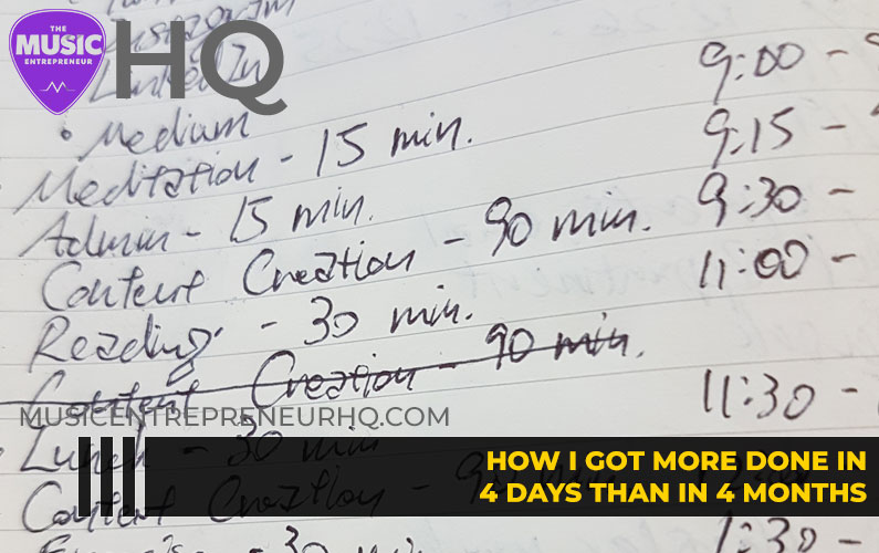 163 – How I Got More Done in 4 Days Than in 4 Months